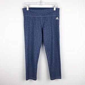 Adidas | Climalite Purple Crop Capri Yoga Leggings